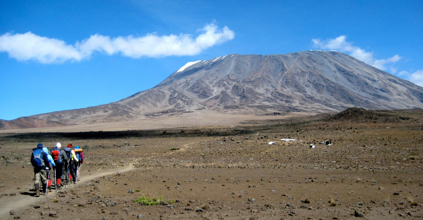 2012 Kili Team Hikes the Saddle
